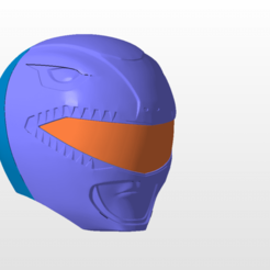 Download STL power rangers mmpr red ranger helmet stl file, nellyscosplayandprops