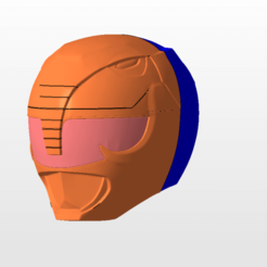 Download 3D printing models power rangers mmpr black ranger sentry helmet stl file, nellyscosplayandprops