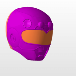 front.png Download STL file power rangers turbo pink ranger helmet stl file • 3D printable object, nellyscosplayandprops