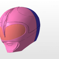 Download 3D printing models power rangers mmpr pink ranger helmet stl file, nellyscosplayandprops