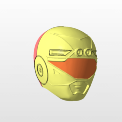 front.png Download STL file power rangers turbo yellow ranger helmet stl file • 3D printing template, nellyscosplayandprops