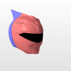 Download 3D printer model power rangers mmpr red ranger bat in the sun helmet stl file, nellyscosplayandprops