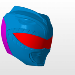 Download STL file power rangers mmpr green ranger helmet stl file, nellyscosplayandprops