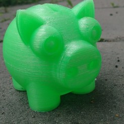 Download free 3D printer designs ZEAK's Piggy Bank, ZEAK