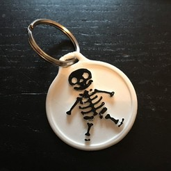 3D print files Skeleton key ring, Shipshape