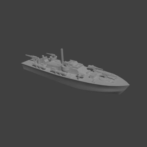 Capture.JPG Download STL file Torpedo patrol boat • 3D printing object, Shipshape