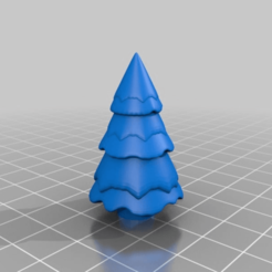Download free STL files snow-covered fir tree, Shipshape