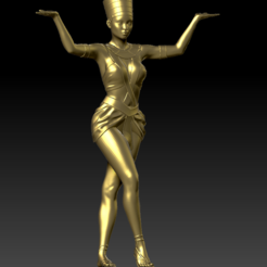 egyptian girl pose 01.PNG Download STL file egyptian girl pose • 3D printable object, stan42