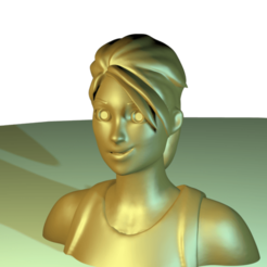 fortniteGirl001.png Download STL file Bust fortnite Girl • 3D printer template, stan42