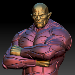 CyberOrc02.PNG Download STL file Cyber Orc HD • 3D printing object, stan42