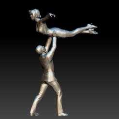 weddingDance01.PNG Télécharger fichier STL wedding Dance couple HD • Modèle pour imprimante 3D, stan42