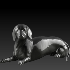 Descargar modelos 3D para imprimir Dachshund HD, stan42