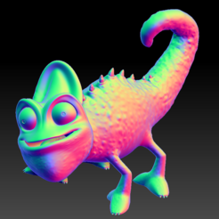 Chameleon03.PNG Download STL file CHAMELEON HD • Model to 3D print, stan42