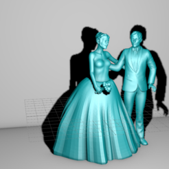 3D printer models Figurine married wedding, stan42