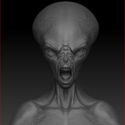 Descargar STL Busto Alienígena, stan42