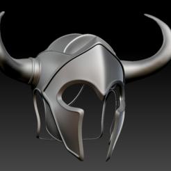 HelmetWarrior01.PNG Download STL file Warrior_Helmet • Model to 3D print, stan42