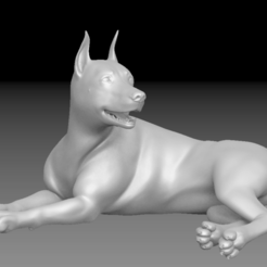 Impresiones 3D Doberman HD Perro hembra, stan42