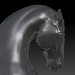 Download STL file Horse Bust HD • 3D printer template, stan42