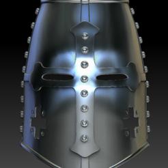 helmetTemplar02.PNG Télécharger fichier STL helmet templier • Modèle pour imprimante 3D, stan42