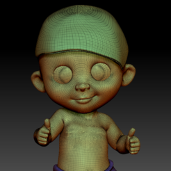 BabyBoss04.PNG Download STL file Baby Boss one year • 3D print model, stan42