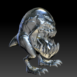 gnorhMonster03.PNG Download STL file gnorh Monster HD • 3D print template, stan42
