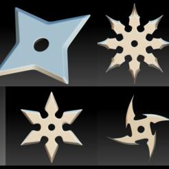 Shurikens Pack.png Download STL file Shurikens Pack4 • 3D printable model, stan42