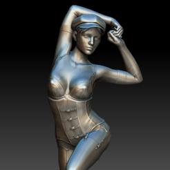 Retro Sexy Girl04.PNG Télécharger fichier OBJ Retro Sexy Girl • Modèle à imprimer en 3D, stan42