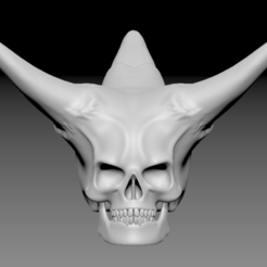 Download free 3D printing files skull demon, stan42