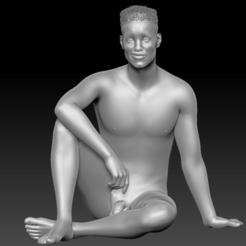 Download 3D printing templates Naked Man Pose HD, stan42