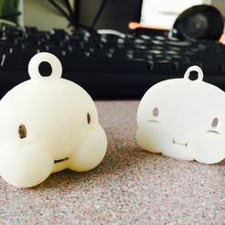 Imprimir en 3D gratis emoji llavero que estalla, Bobjustice