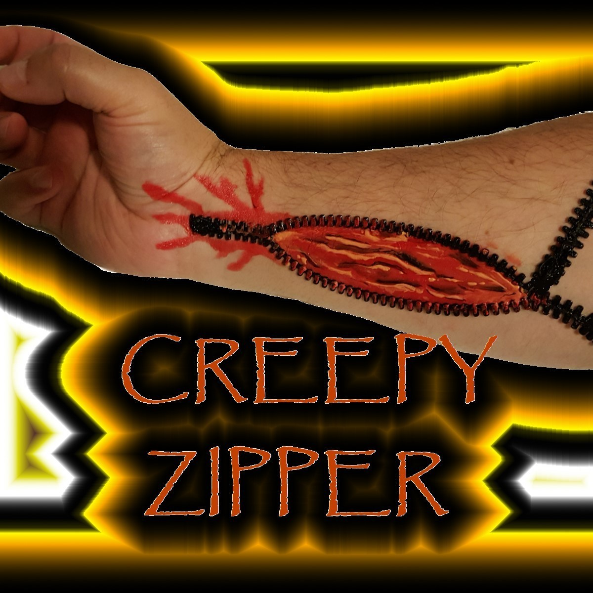 CREEPY ZIPPERxcf.jpg Download free STL file CREEPY ZIPPER SET • 3D print template, DJER