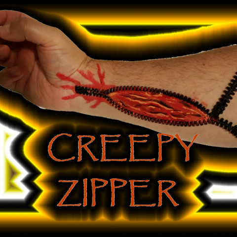 CREEPY ZIPPER2.png Download free STL file CREEPY ZIPPER SET • 3D print template, DJER
