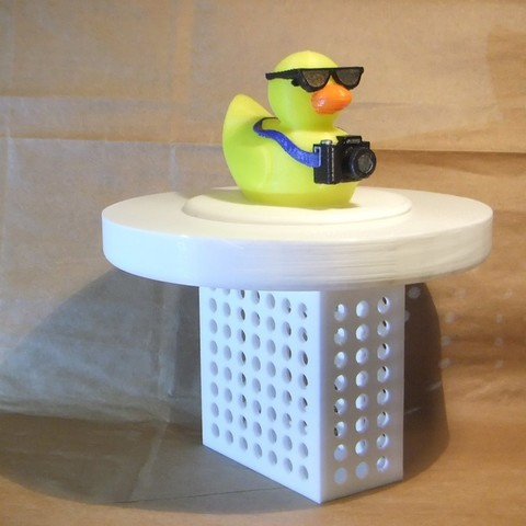 "Download free STL file 3"" Pool Chlorinatior with Tourist Duck Lid, rebeltaz"
