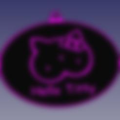 Download free 3D printer templates Hello Kitty Parody Sign, rebeltaz
