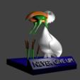 render.png Download free STL file Never Give Up • 3D printable design, rebeltaz