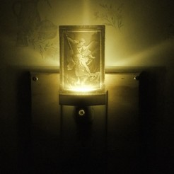 Download free 3D printing files St. Michael Night Light, rebeltaz