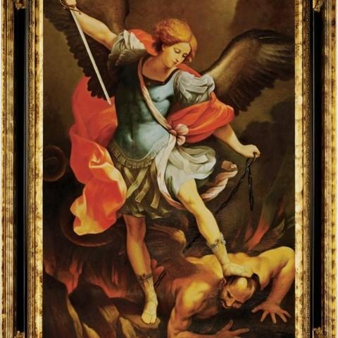 Download free 3D printer files Saint Michael the Archangel Lithophane, rebeltaz