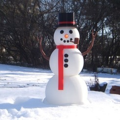 Download free 3D printing designs Large Scale Multi Piece Snowman, rebeltaz