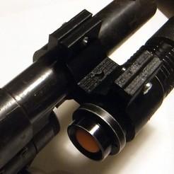 Free STL file 12 Gauge Shotgun Flashlight Mount, rebeltaz