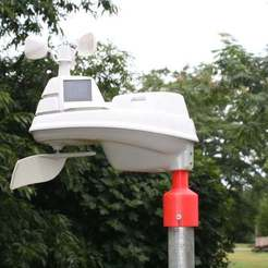 Download free STL AcuRite 01525 Personal Weather Station Pole Mount, rebeltaz