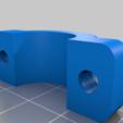 """Download free 3D model 0.75"""" ( 3/4"""" ) Conduit Pipe Clamp, rebeltaz"""