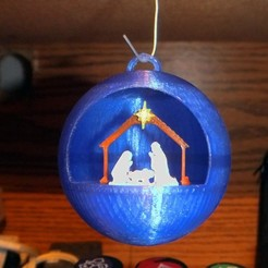 Download free 3D printing templates Nativity Christmas Ornament, rebeltaz