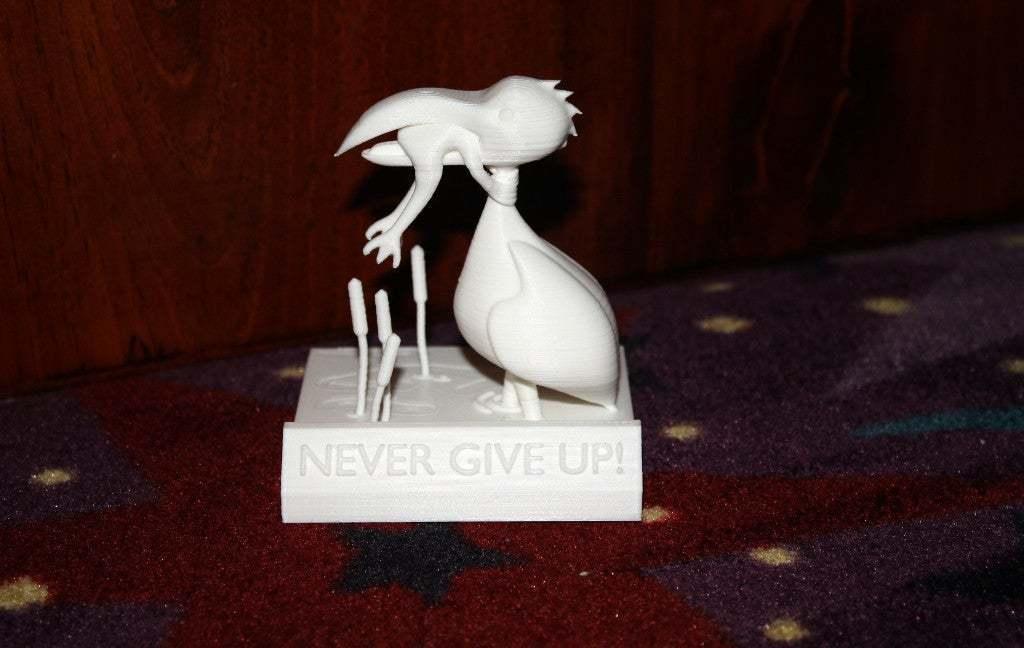 IMG_1750.JPG Download free STL file Never Give Up • 3D printable design, rebeltaz