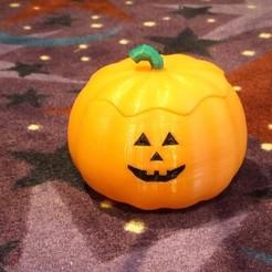9f49b612d992bb42e7624ae2840587a2_display_large.JPG Download free STL file Pumpkin Candy Dish • 3D printer template, rebeltaz