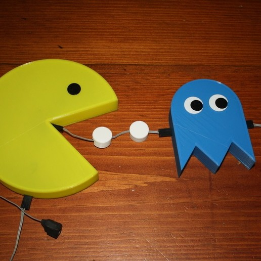 Download free STL file PacMan and Ghosts Night Light, rebeltaz