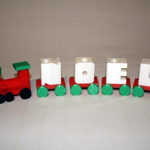 Free STL file Noel Holiday Candle Train, rebeltaz