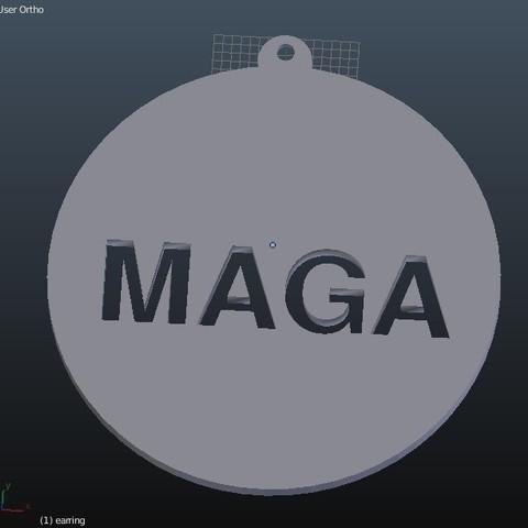 Download free 3D printer designs MAGA - Hat Pin / Tie Tack and Earrings, rebeltaz