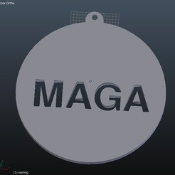 Free STL MAGA - Hat Pin / Tie Tack and Earrings, rebeltaz