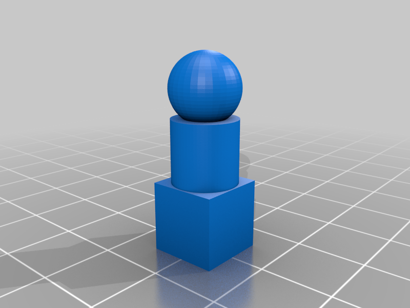 test.png Download free STL file Cylinder-Sphere-Cube Test Object • 3D printable template, rebeltaz