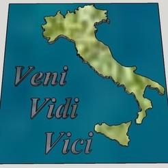 a1460045fcdf61636166fc8276a73077_display_large.jpg Télécharger fichier STL gratuit Veni Vidi Vici - Targa Italiana • Plan pour impression 3D, rebeltaz
